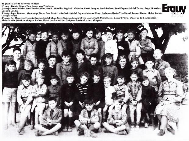 Ecole ST PIERRE 1950 noms